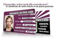 la carte musiques en live w200