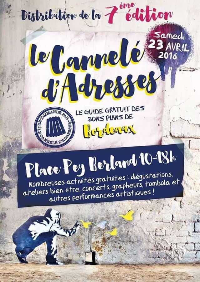 LANCEMENT CANNELE D'ADRESSES 23 AVRIL 2016