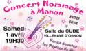 CONCERT PRINCESSE MANON – 4EME EDITION – SAMEDI 1ER AVRIL 2017- VILLENAVE D'ORNON