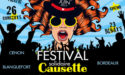 FESTIVAL CAUSETTE – PARC & ROCHER DE PALMER – 22 > 25 JUIN 2017 – CENON