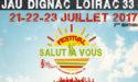 FESTIVAL SALUT A VOUS – DU 21 AU 23 JUILLET 2017 – JAU-DIGNAC-ET-LOIRAC (33)
