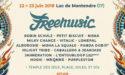 FESTIVAL FREE MUSIC 2018 – 18EME ÉDITION – 22 > 23 JUIN – LAC DE MONTENDRE