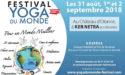 FESTIVAL YOGA DU MONDE – 31 AOÛT > 2 SEPTEMBRE 2018 – CHÂTEAU D'OLONNE (VENDEE)