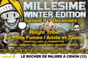 MILLESIME FESTIVAL WINTER - SAMEDI 8 DECEMBRE 2018 - ROCHER DE PALMER - CENON