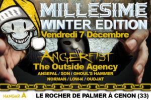 MILLESIME FESTIVAL WINTER - VENDREDI 7 DECEMBRE 2018 - ROCHER DE PALMER - CENON