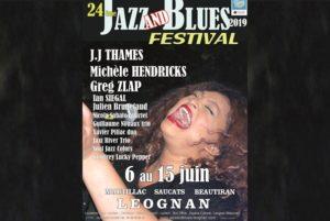 FESTIVALJAZZ AND BLUES #24- 6 > 15 JUIN 2019 - LEOGNAN (33)