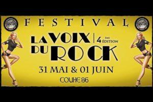 FESTIVAL LA VOIX DU ROCK #4 - 31 MAI & 1 JUIN 2019 - COUHÉ (86)