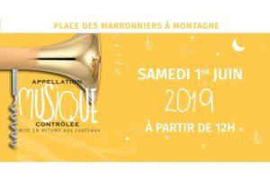 FESTIVAL APPELLATION MUSIQUE CONTROLEE - SAMEDI 1 JUIN 2019 - ST ÉMILION (33)