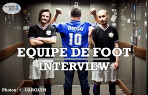 INTERVIEW MANUSCRITE #33 - EQUIPE DE FOOT @ DIEGO ON THE ROCKS  @ CAROLYN