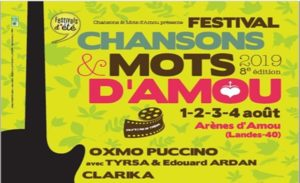 LA PLAYLIST VIDEOS DU FESTIVAL CHANSONS & MOTS D'AMOU 2019