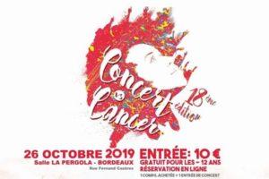 CONCERT VS CANCER 2019 - SAMEDI 26 OCTOBRE 2019 - LA PERGOLA - BORDEAUX