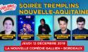 SOIREE TREMPLINS DE LA NOUVELLE AQUITAINE – JEUDI 12 DECEMBRE 2019 – LA NOUVELLE COMEDIE GALLIEN – BORDEAUX
