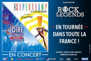 ROCK LEGENDS - SUPERTRAMP & DIRE STRAITS performed by LOGICALTRAMP & MONEY FOR NOTHING - Samedi 21 Mars 2020 - Scénéo - 62500 Saint-Omer