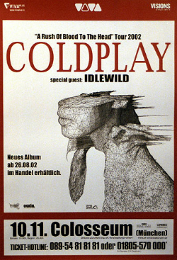 Coldplay 2002TourPoster